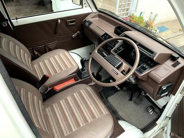 最近の軽自動車にはない色使いのインテリアがとても新鮮です。