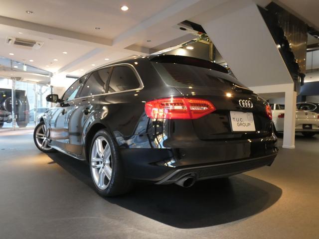 人気のA4アバント2.0TFSISラインが入庫しました!外装色にはミトスブラックメタリックを配色!内外装共に程度良好な1オーナー車両です!TEL:045-844-3737