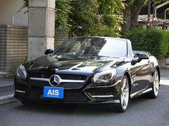 M・ベンツSL350 BE AMGスポーツP ナビTV黒革ワンオーナー