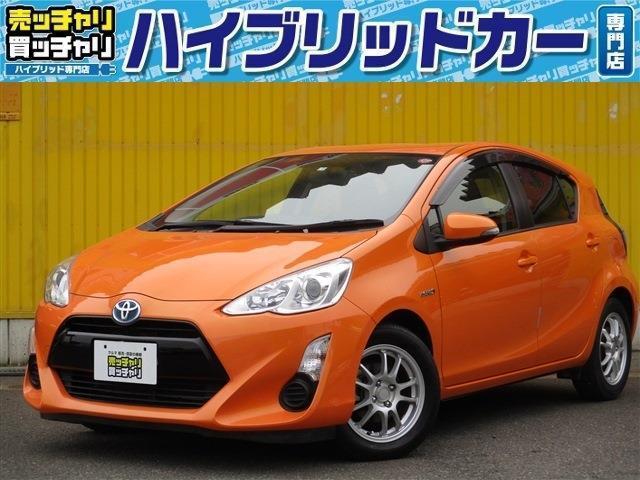 トヨタ アクア S ナビ・フルセグTV・DVD-V Bluetooth連動可