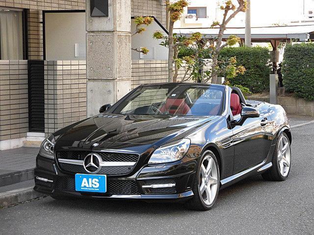 メルセデス・ベンツ SLK200ブルーエフィシェンシー AMGスポーツパッケージ アジリティパッケージ ナビ フルセグTV レッドレザーシート 18インチAW