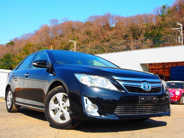 トヨタ カムリ ハイブリッド HV充電済 車検整備 無事故 Bluetoothナビ Bカメラ HID スマートインテリ