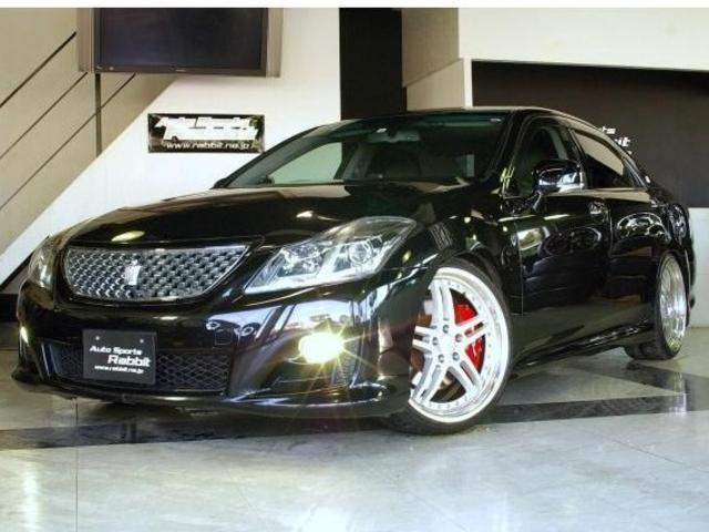 トヨタ クラウン 3.5アスリート HDDナビ/CD/DVD/Bトゥース/フルセグ・サンルーフ・ETC・Bモニター・全席パワーシート・本革シート・ワーク20AW・RSRフルタップ車高調・コンビハンドル・社外レーダー