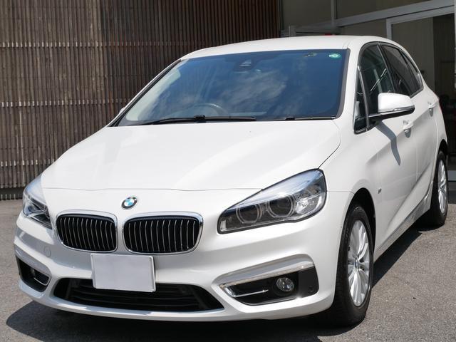 BMW 218dアクティブツアラー ラグジュアリー ワンオーナー 正規ディーラー車 禁煙 タッチパネルカラースクリーン バックカメラ リアソナー 電動開閉トランク スマートキー 黒革パワーシート シートヒーター 緊急ブレーキ レーン逸脱警告 17AW