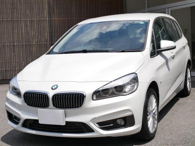 BMW 218dグランツアラー ラグジュアリー 正規ディーラー車 ワンオーナー禁煙 純正ナビ バックカメラ 前後ソナー オートAC スマートキー 電動開閉トランク スマートキー 黒革電動シート シートヒーター 7人乗り クリーンディーゼルエンジン