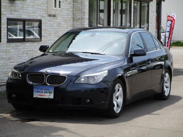 BMW 5シリーズ 525i 車検整備付 走行距離4万キロ台 キーレス ナビ   CD 電動シート ETC バックカメラ