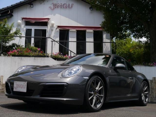 ポルシェ 911 911カレラ4 3.0 PDK D車 右H レザーシート シートヒーター LEDヘッドライト スポーツクロノ サテンペイント純正20インチAW カラークレスト エントリードライブ パワーステアリングプラス