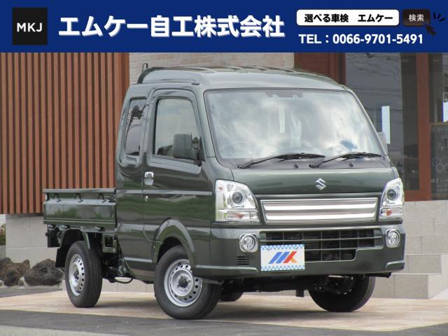 スズキ X AT AC PS パートタイム4WD スズキセーフティサポート ディスチャージヘッドランプ レーン逸脱防止装置 届け出済未使用車
