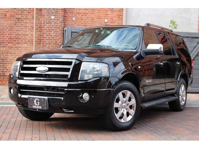 フォード リミテッド 2008yモデル ブルーフレーム物 新車並行 4WD ブラックレザー パワーバックドア 電動サンルーフ アルパイン製地デジHDDナビ フリップダウンモニター バックカメラ