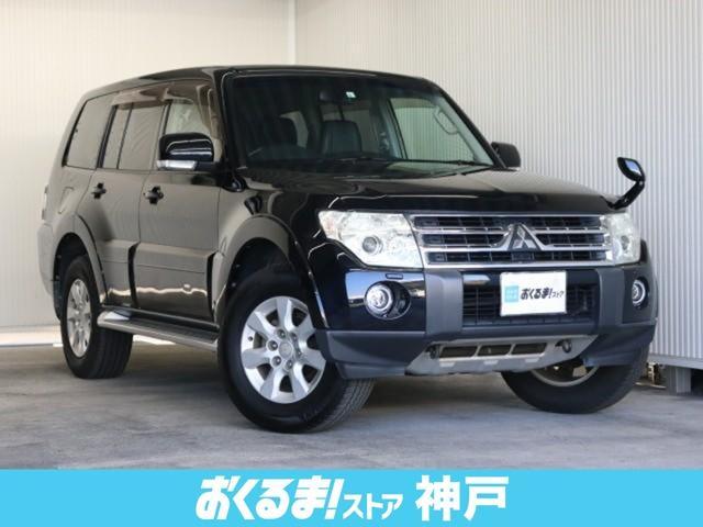 ロング エクシード 4WD メーカーHDDナビ 黒革シート