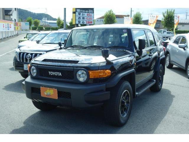 トヨタ FJクルーザー ブラックカラーパッケージ 純正アルミ 社外ナビ TV バックカメラ 4WD キーレス ETC クルーズコントロール