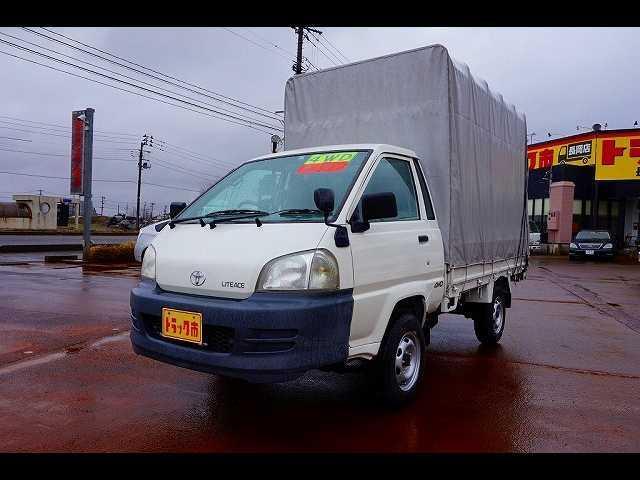 トヨタ 0.85t 4WD Sタイヤ ガソリン 幌付平ボディ