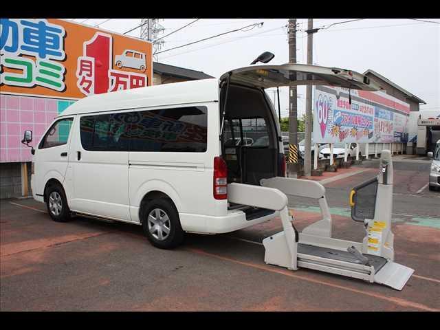 トヨタ リアリフト車Bタイプ車イス2基10人スライドドア連動ステップ