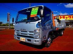 エルフトラック3t 4WD ワイド超ロング キャリアカー 車載