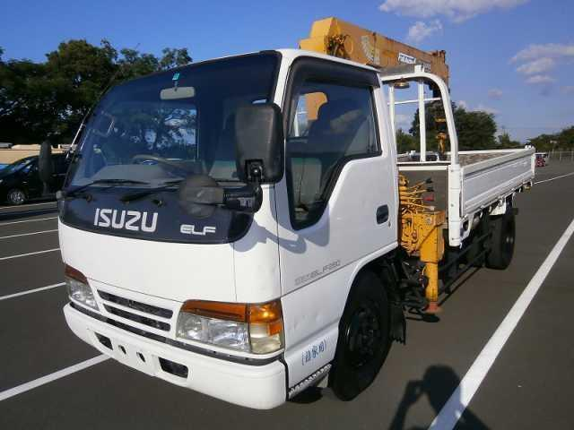 いすゞ エルフトラック タダノ4段クレーン 3t積