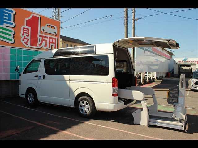 トヨタ レジアスエースバン ウェルキャブ車 Bタイプ ルーフサイドウインドゥあり8人2基 ウェルキャブ車 Bタイプ ルーフサイドウインドゥあり8人2基 スライドドア連動ステップ バックカメラ付き