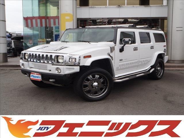 ハマー G 4WDストラーダナビF/S/Bモニター本革シートETC