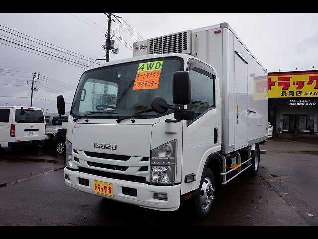 いすゞ エルフトラック 3t 4WD FFL ワイドロング 中温冷凍車