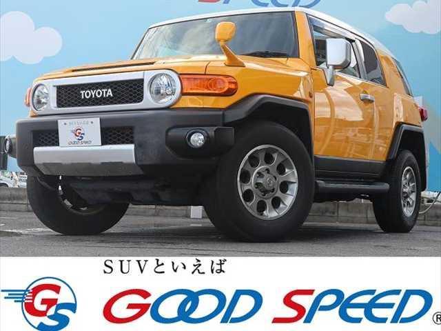 トヨタ FJクルーザー ベースグレード 4WD 純正SDナビTV フルカラーバックビューモニター クリアランスソナー ステアリングスイッチ 純正17インチアルミホイール タイヤブリジストン 背面タイヤ純正ハードカバー フロントフォグライト