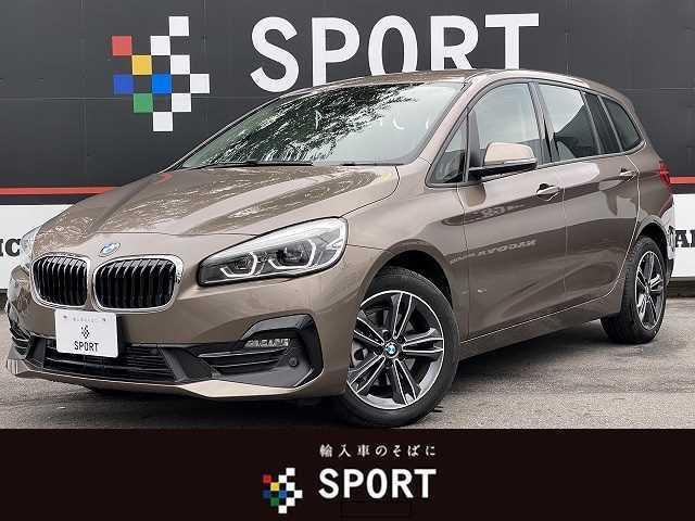 BMW 218dグランツアラー スポーツ インテリジェントセーフティ 純正HDDナビ バックカメラ Bluetooth ハーフレザー シートヒーター パワーバックドア コンフォートアクセス LEDヘッド ミラーインETC 純正AW