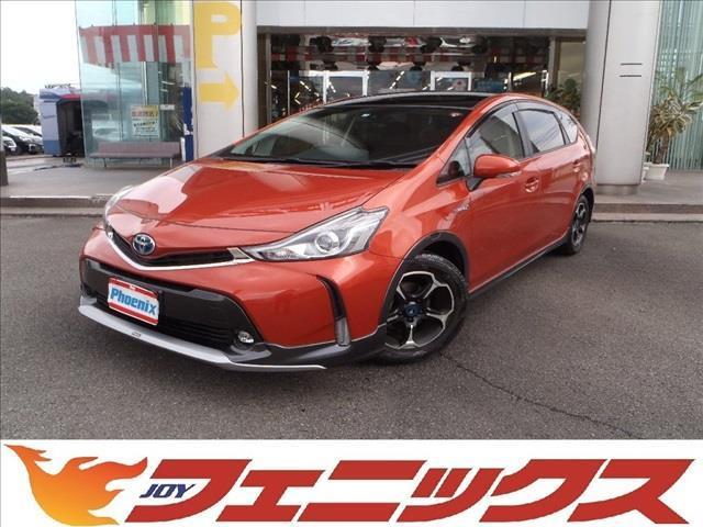 トヨタ プリウスアルファ G純正SDナビトヨタセーフティセンスモデリスタエアロパーツ