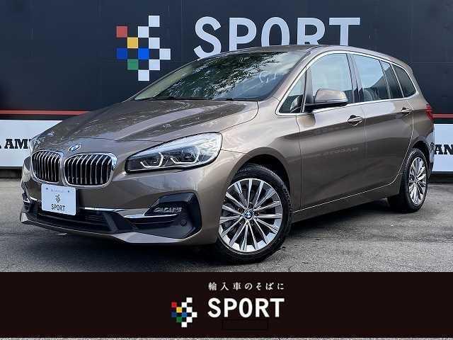 BMW 218dグランツアラー ラグジュアリー インテリセーフ 純正ナビ Bカメラ パワーバックドア 本革 シートヒーター・メモリー コンフォートアクセス LED ETC 純正AW