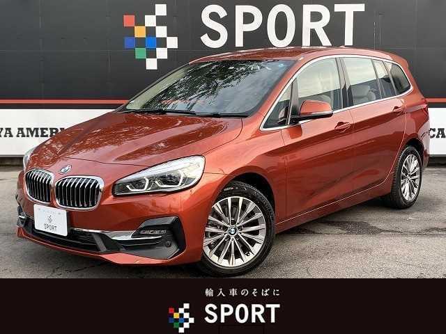 BMW 218dグランツアラー ラグジュアリー アクティブクルーズ インテリセーフ 純正ナビ Bカメラ パワーバックドア ベージュレザー 3列シート LEDヘッドライト ETC