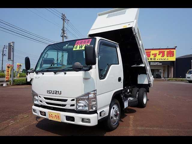 いすゞ エルフトラック 2t 4WD FFL 強化ダンプ