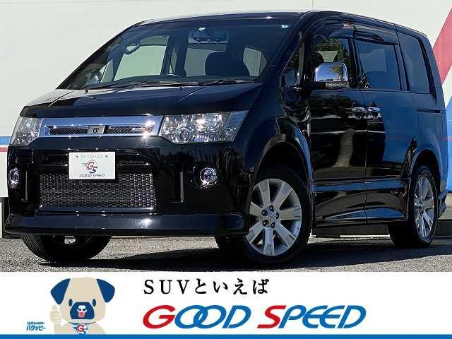 三菱 ローデスト G プレミアム SDナビTV バックカメラ ロックフォード 両側電動スライド スマートキー パワーバックドア パドルシフト HIDヘッド パートタイム式4WD