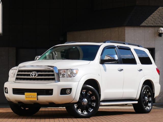 米国トヨタ 新平 4WD プラチナム レッドロックレザー サンルーフ