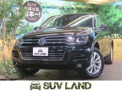VW トゥアレグV6 純正HDDナビ フルセグTV 黒革シート