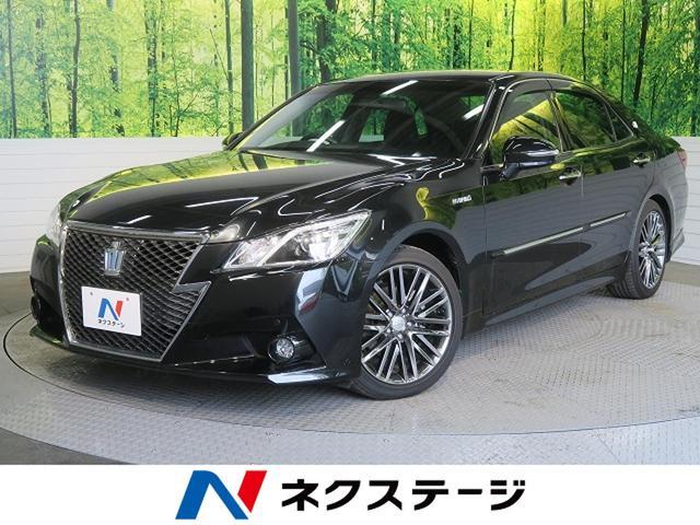トヨタ アスリートS 黒革 18アルミ 純正HDDナビ フルセグ