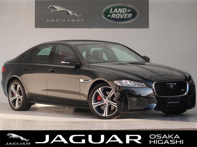 ジャガー XF S 認定 1オーナー 赤×黒革 LEDヘッド ACC