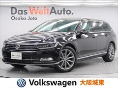 VW パサートヴァリアントTDIハイライン 純正ナビ・黒革シート