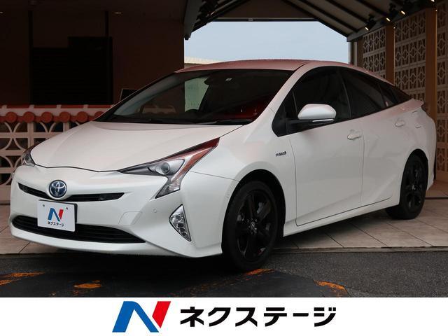 沖縄県の中古車ならプリウス Aツーリングセレクション セーフティセンスP 純正9型SD