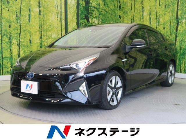 トヨタ プリウス Sツーリングセレクション 純正9型ナビ セーフティセンス