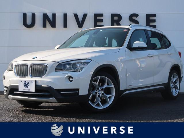 BMW sDrive 18i xライン 純正HDDナビ バックカメラ HIDヘッド スマートキー 専用18インチAW ハーフレザーシート アルミルーフレール ミラーETC