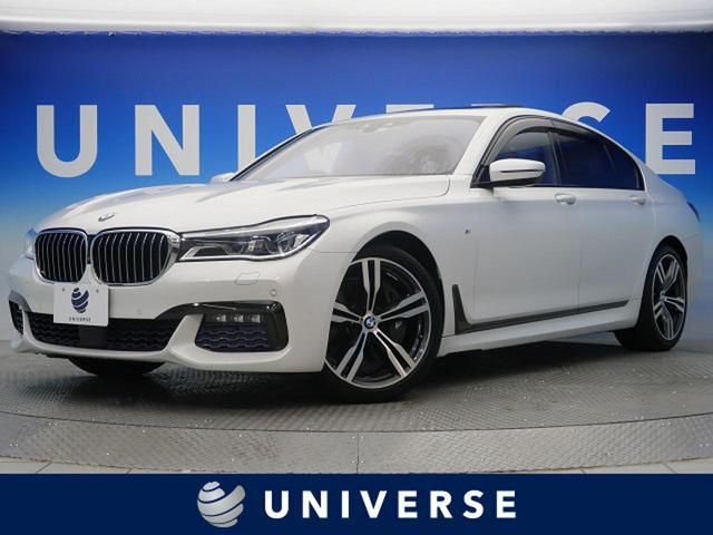BMW 750i Mスポーツ サンルーフ 純正HDDナビ サラウンドビューモニター イージークローザー 前席ベンチレーション LEDヘッドランプ 純正20インチAW ACC HUD