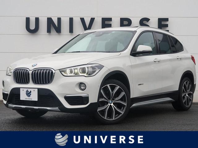 BMW X1 xDrive 18d xライン ハイラインパッケージ セーフティPKG/コンフォートPKG/パノラマガラスサンルーフ/ハーマンカードン/オプション19インチAW 1オーナー 純正ナビ バックカメラ 茶革 ヒーター付パワーシート ヘッドアップディスプレイ