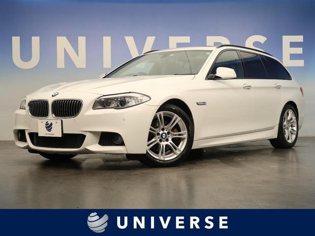BMW 5シリーズ 523iツーリング Mスポーツパッケージ 前席パワーシート フロントエアロバンパー 18インチAW Mスポーツサスペンション アルカンターラスポーツシート Mエンブレム入スカッフプレート Mエンブレム入革巻きスポーツステアリング