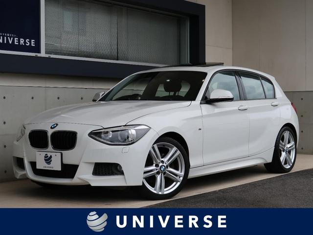 BMW 116i Mスポーツ サンルーフ 純正ナビ キセノンヘッドライト オートライト 純正17インチAW デュアルオートエアコン Mスポーツ専用アルカンターラコンビシート Mスポーツサスペンション ETC