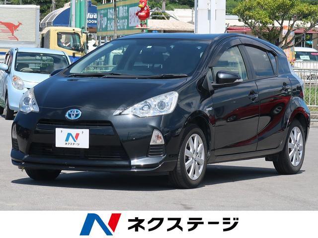 沖縄県の中古車ならアクア Gブラックソフトレザーセレクション 純正ナビ Bluetooth スマートキー オートライト ハーフレザーシート 純正15AW