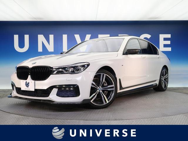 BMW 740i Mスポーツ サンルーフ 茶革シート 純正ナビ 全周囲カメラ ACC 電動リアゲート 全席シートヒーター パワーシート ヘッドアップディスプレイ シートベンチレーション ETC 禁煙車