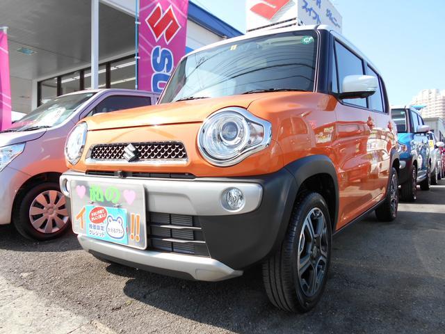沖縄の中古車 スズキ ハスラー 車両価格 139万円 リ済別 平成28年 0.6万km パッションオレンジ ホワイト2トーンルーフ