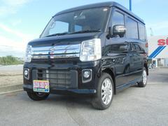 沖縄の中古車 スズキ エブリイワゴン 車両価格 149万円 リ済別 平成29年 0.9万K ブルーイッシュブラックパール3