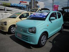 沖縄の中古車 スズキ アルト 車両価格 82万円 リ済別 平成29年 0.8万K フレンチミントパールメタリック