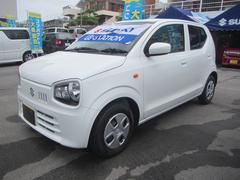 沖縄の中古車 スズキ アルト 車両価格 82万円 リ済別 平成29年 0.8万K スペリアホワイト