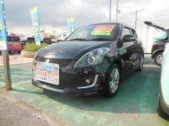 沖縄の中古車 スズキ スイフト 車両価格 83.1万円 リ済別 平成25年 7.9万K スーパーブラックパール