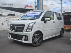 沖縄の中古車 スズキ ワゴンRスティングレー 車両価格 149万円 リ済別 平成29年 0.5万K ピュアホワイトパール
