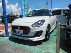 沖縄の中古車 スズキ スイフト 車両価格 143万円 リ済別 平成29年 1.1万K ピュアホワイトパール
